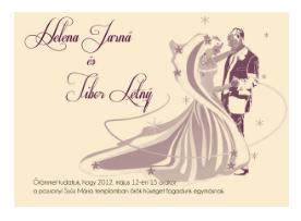 stílusos esküvői meghívó